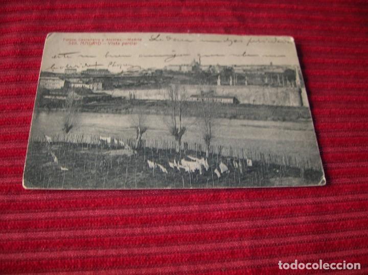 Postales: muy antigua postal de Madrid .Vista parcial - Foto 2 - 130562746