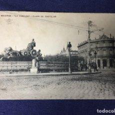 Postales: POSTAL MADRID LA CIBELES PLAZA DE CASTELAR 74 ESCRITA CIRCULADA. Lote 130651363