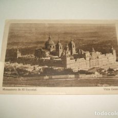 Postales: EL ESCORIAL MADRID VISTA GENERAL MONASTERIO. Lote 131063012