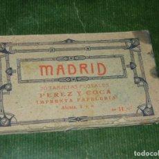 Postales: BLOC POSTAL. 20 VISTAS DE MADRID. PÉREZ Y COCA. MADRID. - CONSERVA 19 POSTALES. Lote 131147328