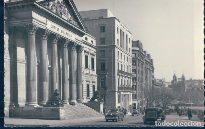 POSTAL MADRID 49 - PALACIO DE LAS CORTES ESPAÑOLAS Y CARRERA DE SAN JERONIMO - GARRABELLA (Postales - España - Comunidad de Madrid Antigua (hasta 1939))