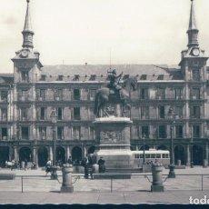 Postales: POSTAL MADRID - PLAZA MAYOR - MONUMENTO A FELIPE III - GARRABELLA - CIRCULADA. Lote 131894706