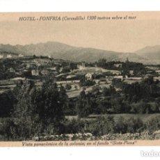Postales: CERCEDILLA. (MADRID).- HOTEL FONFRIA. VISTA PANORAMICA. CASTAÑEIRA ALVAREZ Y LEVENFELD. Lote 131951942