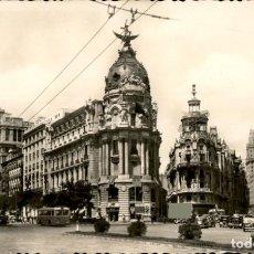 Postales: MADRID – AVENIDA DE JOSE ANTONIO - CIRCULADA. Lote 132397278