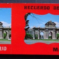 Postales: RECUERDO DE MADRID , CARPETA CON 10 POSTALES GRANDES Y 10 PEQUEÑAS. VER FOTOS. Lote 132568266