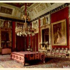 Postales: MADRID – PALACIO REAL – COMEDOR DIARIO - FOURNIER - PATRIMONIO NACIONAL – 1958 – COLORADA - SC. Lote 132934750