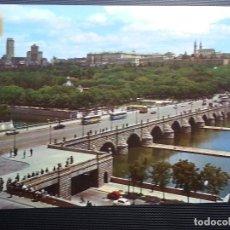 Postales: POSTAL MADRID.PUENTE DE SEGOVIA Y RIO MANZANARES ,137 DOMINGUEZ. Lote 133227418