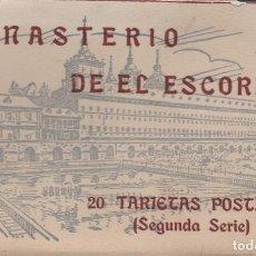 Postales: 20 TARJETAS POSTALES DEL MONASTERIO DE EL ESCORIAL-MADRID-DE HAUSER Y MENET-VER FOTOS. Lote 133257474