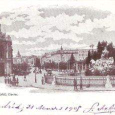 Postales: MADRID Nº 4 LA CIBELES J. BLAS Y CIA. CIRCULADA EN 1905. Lote 133709930