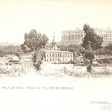 Postales: MADRID 117 PALACIO REAL DESDE EL PUENTE DE SEGOVIA LACOSTE S. CIR.. Lote 133710658
