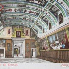 Postales: POSTAL MONASTERIO DEL ESCORIAL - SALAS CAPITULARES - HOTEL PARIS (A. BAENA) - ESPAÑA - CIRCULADA. Lote 133775910