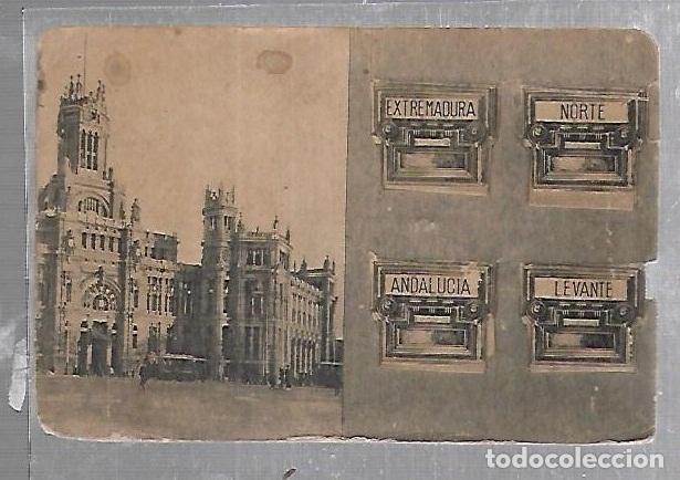 . POSTAL CON CUATRO VENTANAS DESPLEGABLES. NORTE, ANDALUCIA, LEVANTE, EXTREMADURA (Postales - España - Madrid Moderna (desde 1940))