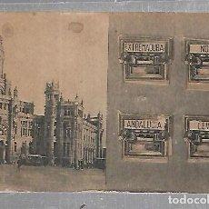 Postales: . POSTAL CON CUATRO VENTANAS DESPLEGABLES. NORTE, ANDALUCIA, LEVANTE, EXTREMADURA. Lote 134155602