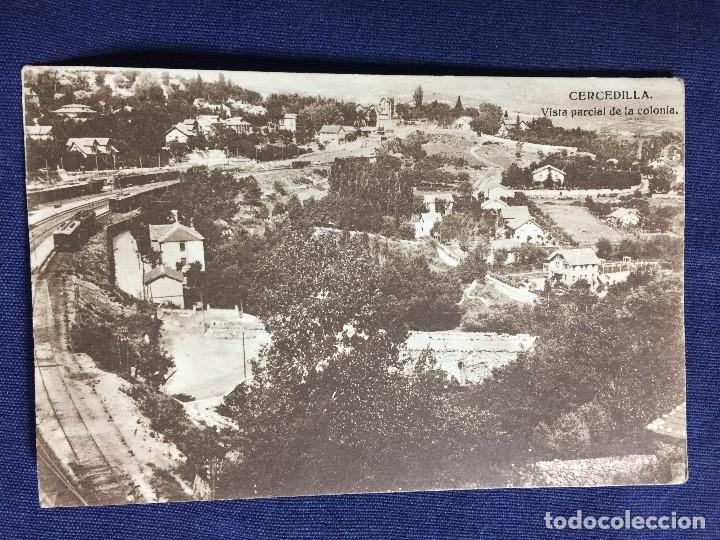 CERCEDILLA VISTA PARCIAL DE LA COLONIA ANTIGUA POSTAL HELIOTIPIA MADRID 1936 TREN SIERRA DE MADRID (Postales - España - Comunidad de Madrid Antigua (hasta 1939))