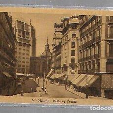 Postales: TARJETA POSTAL DE MADRID - CALLE DE SEVILLA. 14. HAE. Lote 134356910