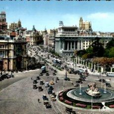 Postales: MADRID – CIBELES Y CALLE ALCALA – SC. Lote 135325290