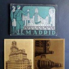 Postales: CARPETA CON 9 POSTALES DE MADRID, SIN CIRCULAR DE LOS AÑOS 40. Lote 135358454