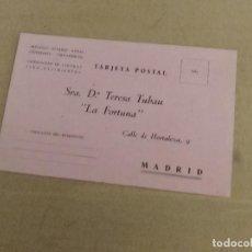 Postales: TARJETA POSTAL MADRID BELEN FABRICAS FIGURAS NACIMIENTO RELIGIOSAS LA FORTUNA TERESA TUBAU AÑOS 40. Lote 136184194