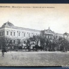 Postales: POSTAL MADRID BIBLIOTECA NACIONAL MUSEO ARTE MODERNO ED GRAFOS SIN CIRCULAR. Lote 137399742