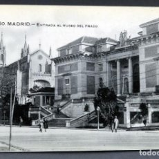 Postales: POSTAL MADRID ENTRADA MUSEO DEL PRADO ANIMADA ED GRAFOS SIN CIRCULAR. Lote 137402802