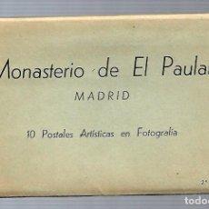 Postales: BLOC DE 10 FOTOGRAFIAS ANTIGUAS DEL MONASTERIO DE EL PAULAR - 2ª SERIE - EDITA - MANIPEL. Lote 137561646
