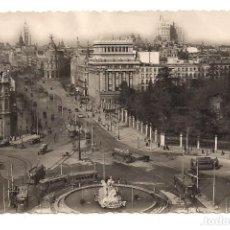 Postales: MADRID - LA CIBELES Y CALLE DE ALCALÁ - Nº36 EDICIONES M. ARRIBAS - ESCRITA. Lote 137828158
