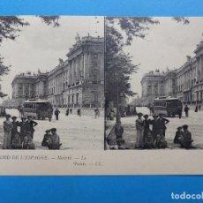 Postales: MADRID, EL PALACIO - POSTAL ESTEREOSCOPICA - L. LEVY. Lote 138581286
