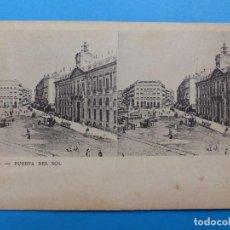 Postales: MADRID, PUERTA DEL SOL - POSTAL ESTEREOSCOPICA. Lote 138581634