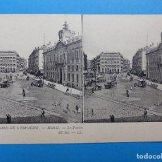 Postales: MADRID, LA PUERTA DEL SOL - POSTAL ESTEREOSCOPICA - L. LEVY. Lote 138581894