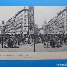 Postales: MADRID, CALLE ALCALA - POSTAL ESTEREOSCOPICA - L. LEVY. Lote 138582122