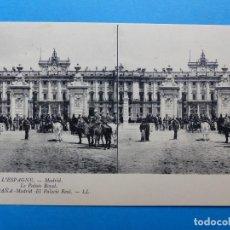 Postales: MADRID, EL PALACIO REAL - POSTAL ESTEREOSCOPICA - L. LEVY. Lote 138582366