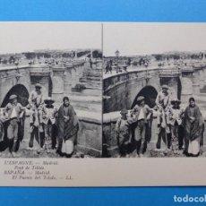 Postales: MADRID, EL PUENTE DE TOLEDO - POSTAL ESTEREOSCOPICA - L. LEVY. Lote 138588694