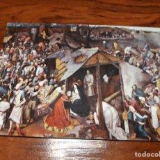 Postales: MADRID . MONASTERIO DE LAS DESCALZAS REALES .LA ADORACION POR BREUGHEL. Lote 138736542