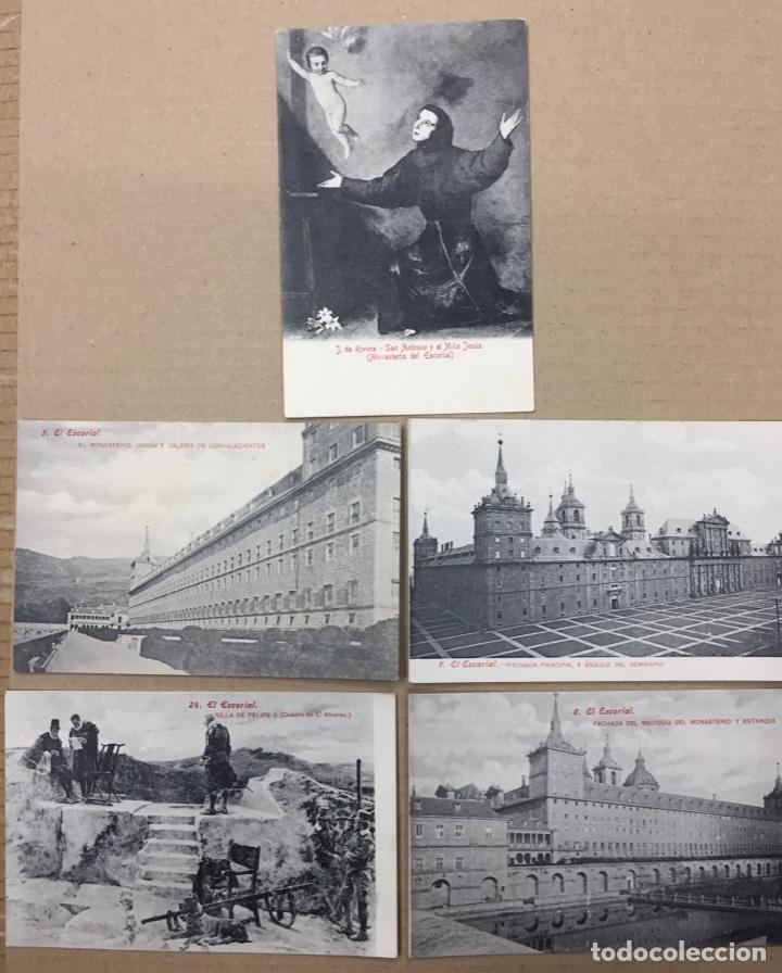EL ESCORIAL. MADRID. LOTE 5 POSTALES ANTIGUAS A 5 EUROS CADA UNA. (Postales - España - Comunidad de Madrid Antigua (hasta 1939))