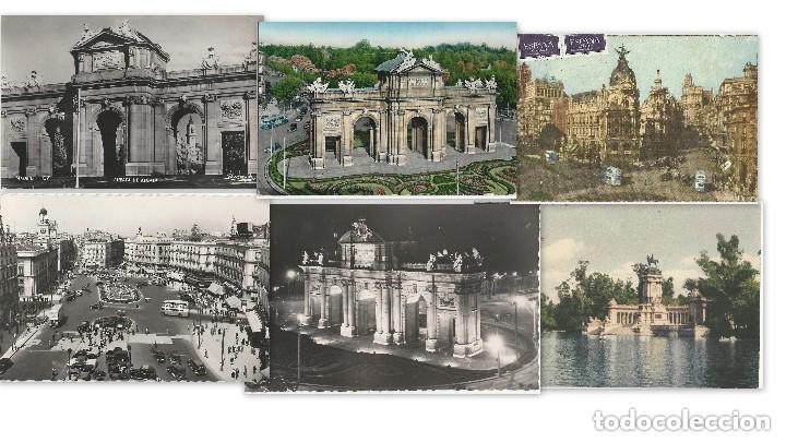 1950 LOTE 6 POSTALES ANTIGUAS - CIRCULADAS - MADRID - ESPAÑA - (Postales - España - Madrid Moderna (desde 1940))
