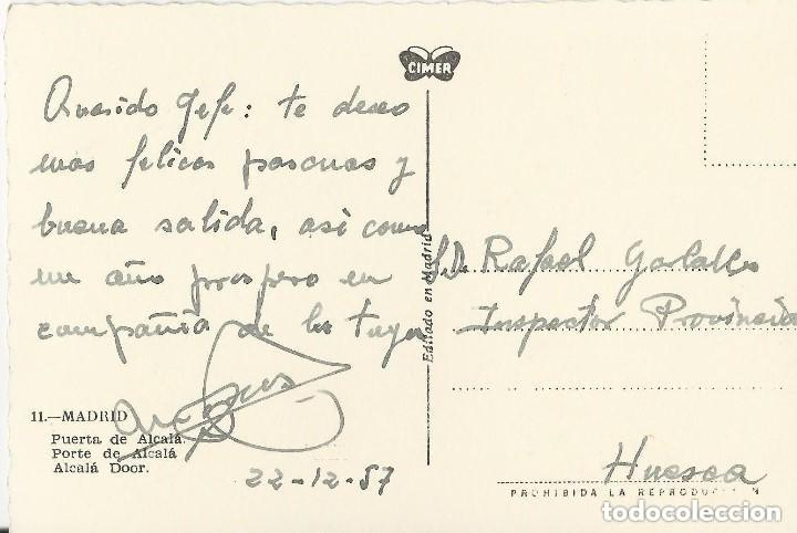 Postales: 1950 LOTE 6 POSTALES ANTIGUAS - CIRCULADAS - MADRID - ESPAÑA - - Foto 7 - 139571382
