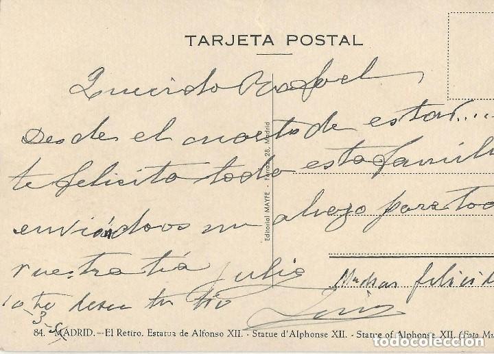 Postales: 1950 LOTE 6 POSTALES ANTIGUAS - CIRCULADAS - MADRID - ESPAÑA - - Foto 9 - 139571382