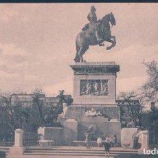 Postales: POSTAL MADRID - ESTATUA DE FELIPE III - 109 GRAFOS. Lote 139877154