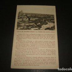 Postales: MADRID VISTA DESDE LA TORRE DE SANTA CRUZ. Lote 140019910