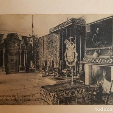 Postales: MONASTERIO DE EL ESCORIAL PALACIO SALA DE AUDIENCIAS, EL ESCORIAL. Lote 140503582