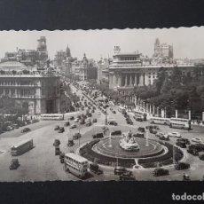 Postales: MADRID PANORAMICA DE LA PLAZA DE CIBELES Y CALLE DE ALCALA. Lote 140853814