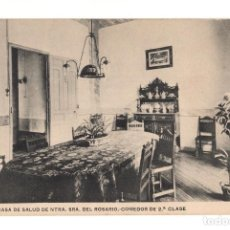 Postales: MADRID.- CASA DE SALUD NUESTRA SEÑORA DEL ROSARIO. COMEDOR DE 2º CLASE. Lote 140970078