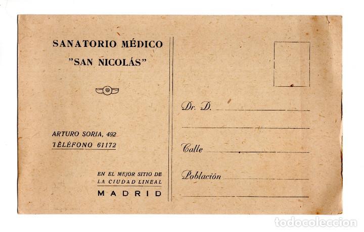 Madrid Sanatorio Médico San Nicolás Comprar Postales Antiguas De