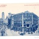 Postales: MADRID.- FACHADA Y SITUACIÓN DEL HOTEL ASTURIAS. Lote 141290046