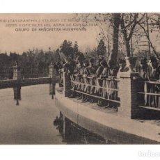 Postales: CARABANCHEL.-COLEGIO NIÑAS HUERFANAS DE JEFES Y OFICIALES DE CABALLERIA.GRUPO DE SEÑORITAS HUERFANAS. Lote 141296646