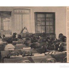 Postales: CARABANCHEL.-COLEGIO NIÑAS HUERFANAS DE JEFES Y OFICIALES DE CABALLERIA. SALA DE ESTUDIO. Lote 141296882