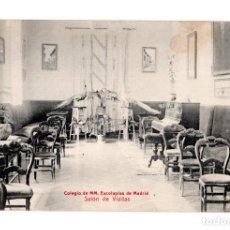 Postales: MADRID.- COLEGIO DE M.M. ESCOLAPIAS DE MADRID.- SALÓN DE VISITAS. Lote 141315566