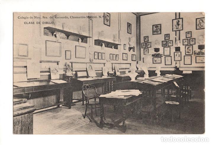MADRID.- COLEGIO NUESTRA SEÑORA DEL RECUERDO. CHAMARTIN. CLASE DE DIBUJO (Postales - España - Comunidad de Madrid Antigua (hasta 1939))