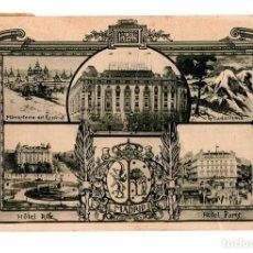 Postales: MADRID.- HOTEL PARIS. HOTEL RITZ, HOTEL PALACE. GUADARRAMA. MONASTERIOR DE ESCORIAL . VARIAS VISTAS. Lote 141504406