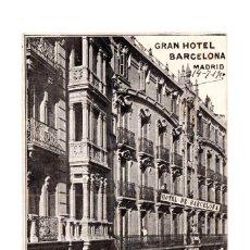 Cartoline: MADRID.- GRAN HOTEL BARCELONA MADRID. Lote 141506850